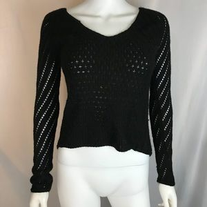 American Eagle Outfitters Black Sparkly XS Sweater